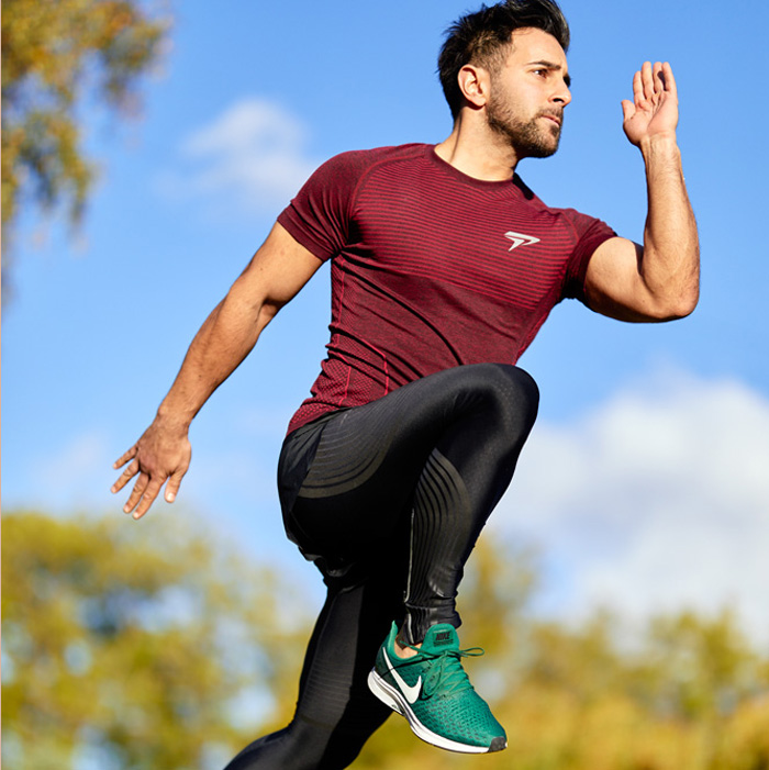sports model male action stock image