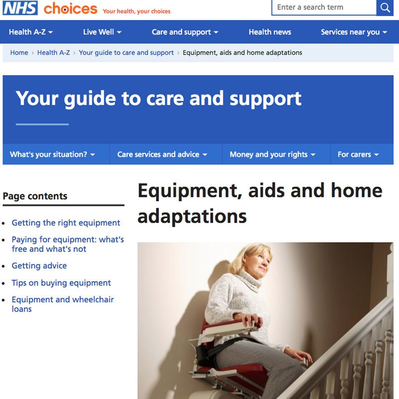 Editorial NHS Choices Advertorial Advertising Commercial Product